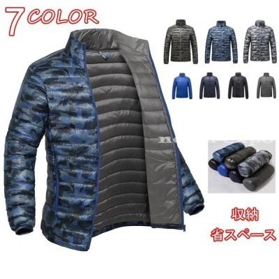 ダウンジャケットダウンコート メンズアウトドアダウンジャケット防寒防風 冬アウター コート 軽量 保温 秋冬 暖かい サイズと色選択可