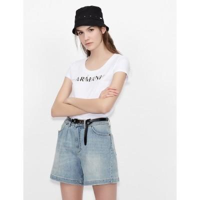tシャツ Tシャツ 【A X アルマーニ エクスチェンジ】ロゴ クルーネック半袖Tシャツ/SLIM