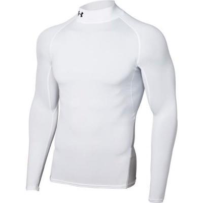 アンダーアーマー サッカー UA HEATGEAR ARMOUR LS MOCK 21SS WHT/BLK/BLK ケームシャツ・パンツ(1359035-101)