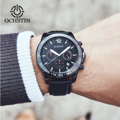 OCHSTIN 腕時計 時計 メンズ 男性用  ストップウォッチ クロノグラフ ビジネ ス スポーツ 多機能 海外人気 クォーツ GQ6117
