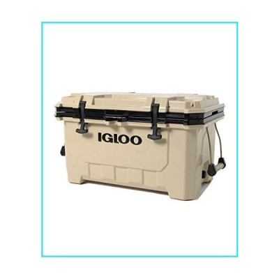 Igloo IMX 70 Quart Lockable Insulated Ice Chest Roto-Molded Cooler with Carry Handles, Tan【並行輸入品】