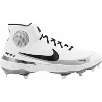ナイキ メンズ スニーカー シューズ Nike Men's Alpha Huarache Elite 3 Mid Metal Baseball Cleats White/Black