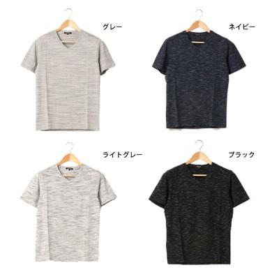 スペースダイVネックTシャツ(ライトグレー×XL)