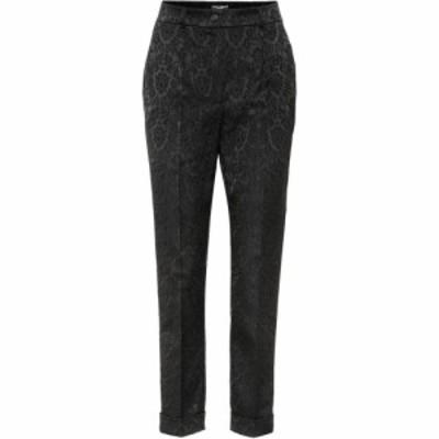 ドルチェandガッバーナ Dolce and Gabbana レディース クロップド ボトムス・パンツ Cropped jacquard pants Black