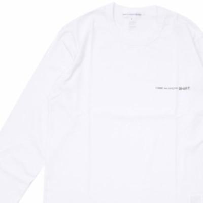 新品 コムデギャルソン シャツ COMME des GARCONS SHIRT Plain With Front Logo L/S Tee 長袖Tシャツ WHITE ホワイト 白 TOPS