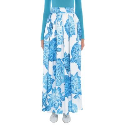 GIADA CURTI RESORT ロングスカート ブルー 44 シルク ロングスカート