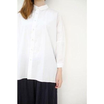 STAMP AND DIARY | ビッグブラウス7分袖 (white) | シャツ