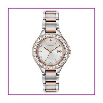 Citizen Eco-Drive Classic Quartz Womens Watch, Stainless Steel, Crystal, Two-Tone (Model: FE1196-57A)【並行輸入品】