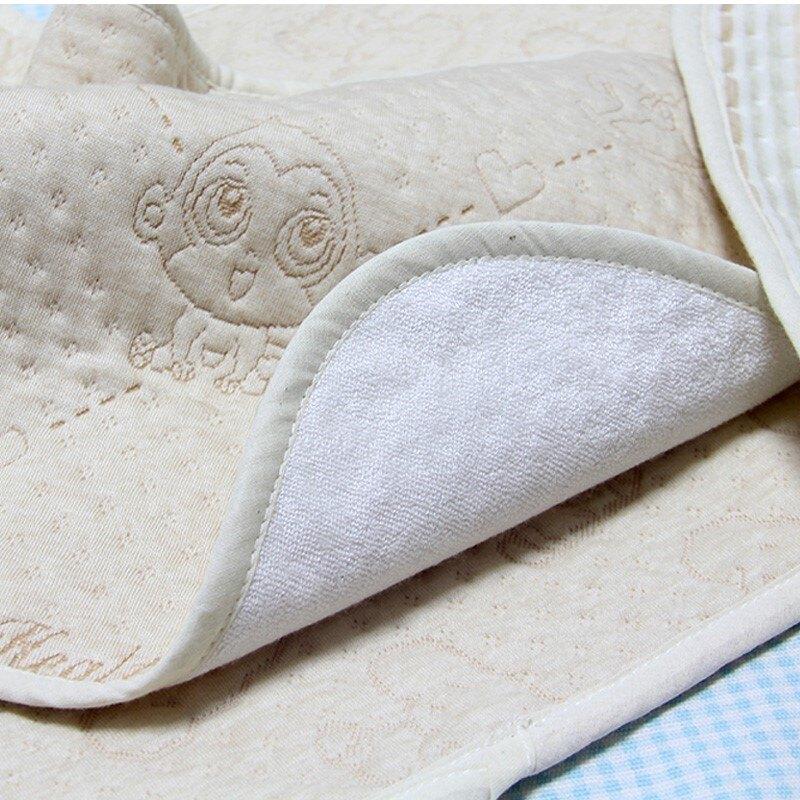 嬰幼兒雙層彩棉隔尿墊新生兒全棉防漏墊竹纖維隔尿墊防水透氣可洗1入