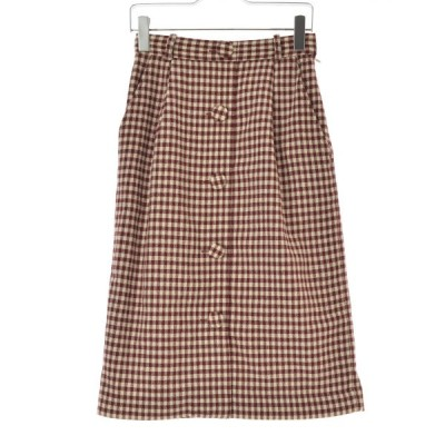 CHILD WOMAN / チャイルドウーマン Dot and Stripes チェック柄ロング スカート
