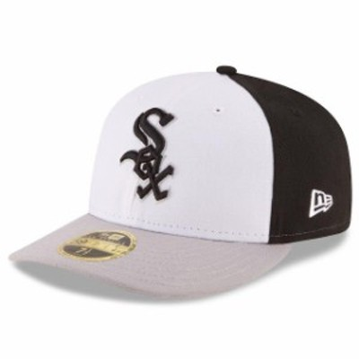 New Era ニュー エラ スポーツ用品  New Era Chicago White Sox White/Gray Front N Center Low Profile 59FIFTY Fitted Hat