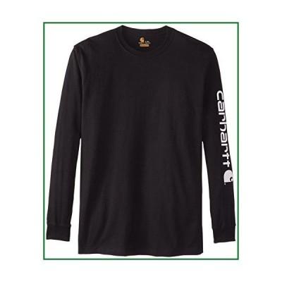 Carhartt メンズ ビッグ&トール シグネチャー スリーブ ロゴ 長袖Tシャツ US サイズ: X-Large Tall カラー: ブラ