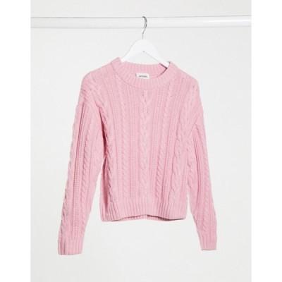 モンキ レディース ニット・セーター アウター Monki cable knit sweater