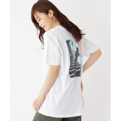 【オペークドットクリップ】 バッグフォトプリントTシャツ レディース ホワイト 99 OPAQUE.CLIP