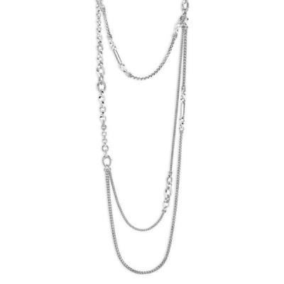 ジョン・ハーディー レディース ネックレス・チョーカー アクセサリー Sterling Silver Classic Chain Layered Necklace 34