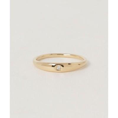 指輪 K18YG ダイヤモンド リング「ピンキー」