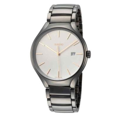 ラド— 腕時計 Rado メンズ True R27239102 40mm White ホワイト Dial Ceramic Watch