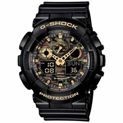 カシオ Gショック CASIO G-SHOCK カモフラージュダイアル 腕時計 メンズ ブラック アナデジ GA-100CF-1A9JF