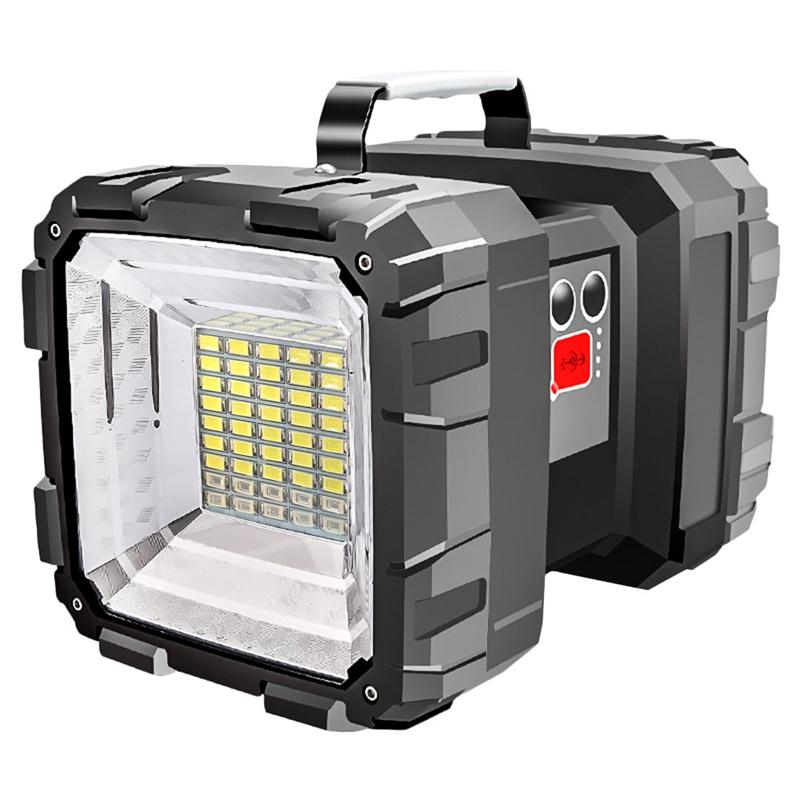 L9 探照燈 雙頭探照燈 ABS雙頭燈 照明燈 電量顯示 5000mah 雙開關 L2燈珠露營照明 USB充電 蝦皮團購