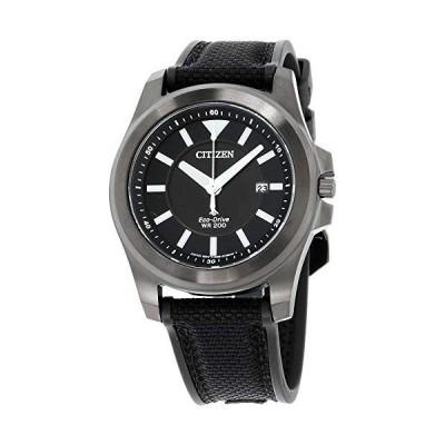 腕時計 シチズン 逆輸入 61135 Men's Citizen Promaster Tough Black Fabric Strap Watch BN0217-02E