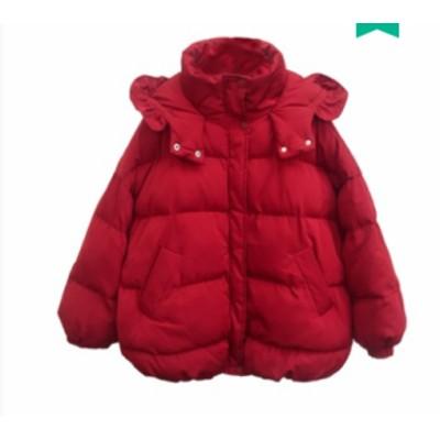 冬新作 冬コートレディース アウター ダウン ダウンジャケット ブルゾン フェイクダウン フード付き コート 上着 中綿 ショート丈