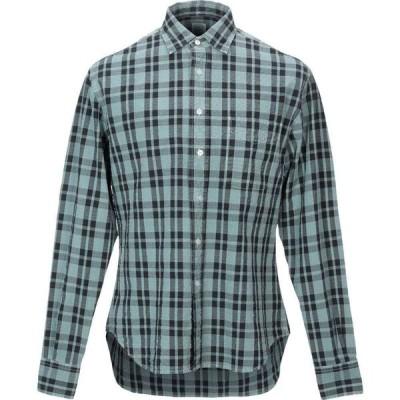 アレッサンドロ ゲラルディ ALESSANDRO GHERARDI メンズ シャツ トップス checked shirt Sky blue