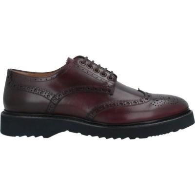 カルピエッレ CALPIERRE メンズ シューズ・靴 laced shoes Maroon