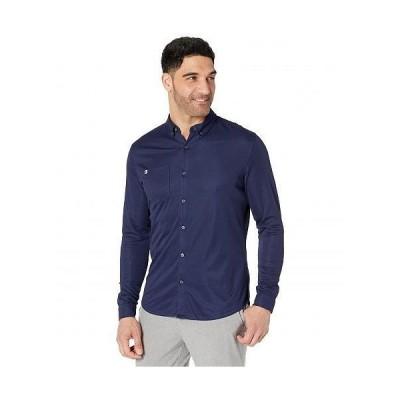 Linksoul リンクソウル メンズ 男性用 ファッション ボタンシャツ Hybrid Oxford Long Sleeve Shirt - Midnight