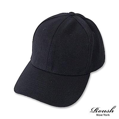 Roush 情侶款-基本款素面棒球帽(5色)