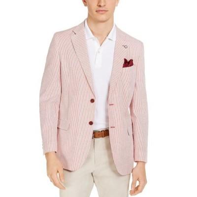 ナウティカ ジャケット&ブルゾン アウター メンズ Men's Modern-Fit Stretch Stripe Seersucker Sport Coat Red