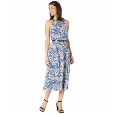 トミー ヒルフィガー レディース ワンピース トップス Olivia Floral Woven Dress Blue Multi
