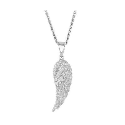 """【並行輸入品】Sterling Silver Angel Wing Pendant Necklace, 18"""""""