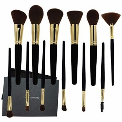 ドゥケア 化粧筆メイクブラシ 12本セット貴族の ゴールド メイクブラシ 超柔らかいメイクブラシ…