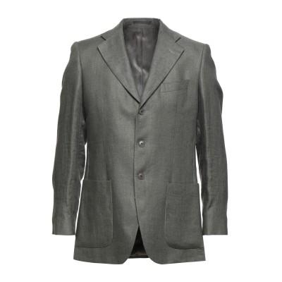 LUBIAM テーラードジャケット グレー 48 リネン 100% テーラードジャケット