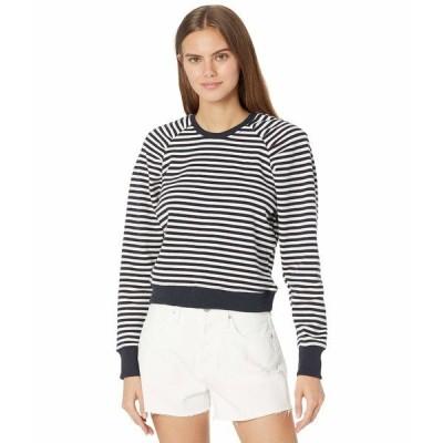 ビジョッププラスヤング パーカー・スウェットシャツ アウター レディース Charlotte Puff Sleeve Sweatshirt Navy/White Stripe