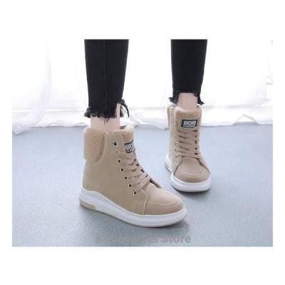 ブーツ ショートブーツ レディース シューズ 靴 レースアップ 美脚 ムートンスニーカー 冬 裏起毛 ファーシューズ 防寒 厚底 ムートンブーツ