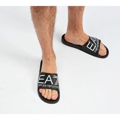 イーエーセブン メンズ サンダル シューズ・靴 Printed Slide Black / White