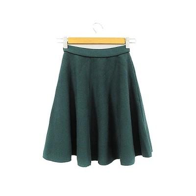【中古】チーキー cheeky スカート ニット フレア ミニ 緑 グリーン /AAM16 レディース 【ベクトル 古着】