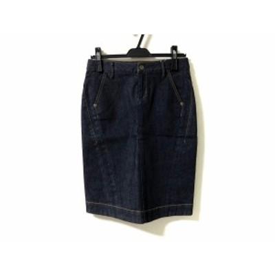 エポカ EPOCA スカート サイズ36 S レディース 美品 - ネイビー ひざ丈/デニム【中古】20201009