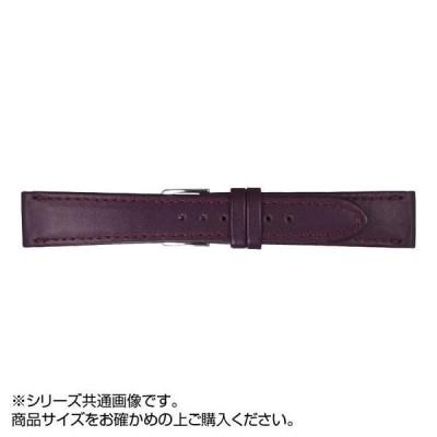 MIMOSA(ミモザ) 時計バンド Eカーフ 18mm ワイン (美錠:銀) CE-W18 バンド