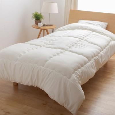 3Dノンスタック 掛け布団/寝具 〔シングルロング アイボリー〕 150×210cm 抗菌防臭機能付き 日本製 〔ベッドルーム〕〔代引不可〕