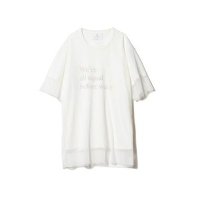 tシャツ Tシャツ Wave tulle CS / ウェーブチュールカットソー