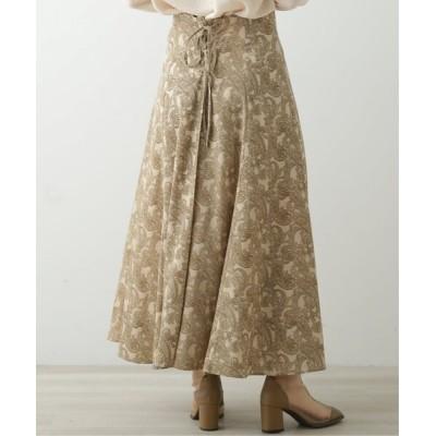 Ray Cassin / バックレースアップペイズリースカート WOMEN スカート > スカート