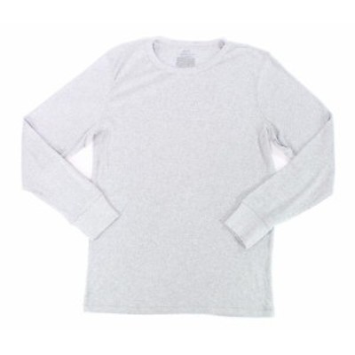 Alfani  ファッション トップス Alfani Mens Tee Shirt Gray Size XL Long Sleeve Thermal Waffle Knit