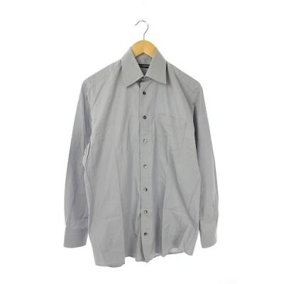 【中古】ドルチェ&ガッバーナ ドルガバ DOLCE&GABBANA ワイシャツ ドレスシャツ 長袖 38 グレー /DF メンズ 【ベクトル 古着】