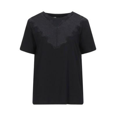 MAJE T シャツ ブラック 1 コットン 100% / ナイロン / レーヨン / ポリウレタン T シャツ