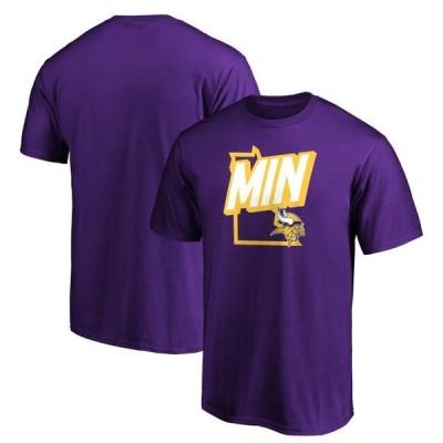 メンズ スポーツリーグ フットボール Men's Fanatics Branded Purple Minnesota Vikings Tricode State T-Shirt Tシャツ