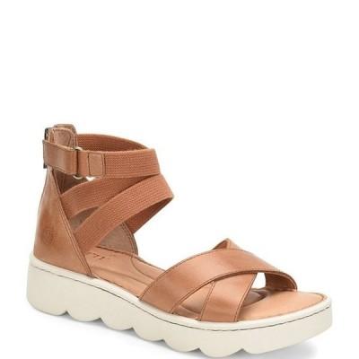 ボーン レディース サンダル シューズ Kivalina Leather Stretch Chunky Platform Wedge Sandals