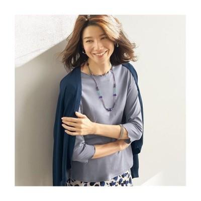 メロウ使い7分袖Tシャツ(綿100%) S M L LL 1756-174832