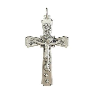 クロス 十字架 フラワー&スター  ペンダント